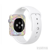 The Vibrant Color Floral Pattern Full-Body Skin Kit for the Apple Watch