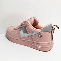 Bunchsun NIKE Air Force 1 Fashionable Women Men Casual Sports Running Shoes Sneakers Pink