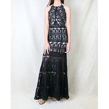 Everlasting Moments Fishtail Maxi Dress in Black