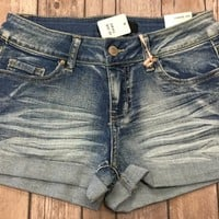 Take Me Seaside Denim Shorts: Light