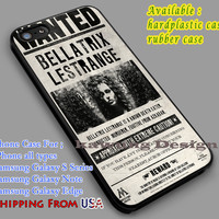 Bellatrix | Wanted Poster | Harry Potter iPhone 6s 6 6s+ 6plus Cases Samsung Galaxy s5 s6 Edge+ NOTE 5 4 3 #movie #HarryPotter dl2