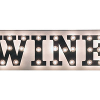 """Marquee Light-Up """"Wine"""" Sign, Signs"""