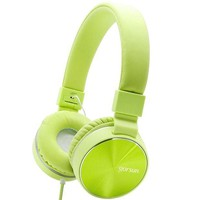 ONETOW Gorsun Headphones Adjustable and Foldable Headsets with Mic and Volume Control for iPhone and Android phones£¨Green£©