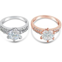 1 ct Cubic Zirconia Diamond Ring - Solitaire Style