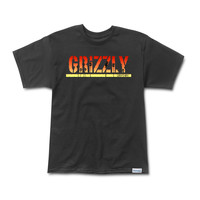 Grizzly Sunset Stamp Tee in Black