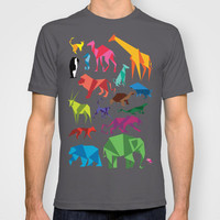 Paper Animals T-shirt by BLIK Surface Graphics