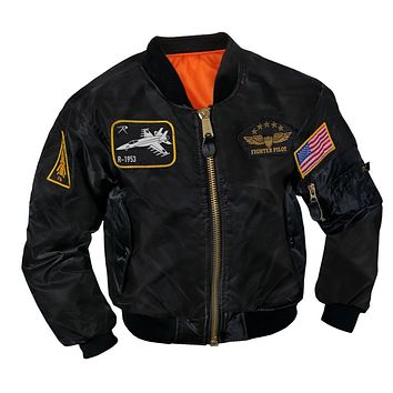 Rothco Kids Flight Jacket w/ Patches