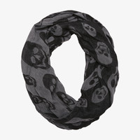 Double-Sided Skull Infinity Scarf