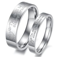 "(Male+Female)Silver Arrow&Heart ""Two shall be as one. Always protects. Always trust. Always love"" 316 l Stainless Steel Wedding Band Anniversary/Engagement/Promise/Couple Ring Best Gift! = 1929824900"