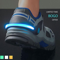 Fashion Running & Biking Safety Lights Night Safe Running Shoe Clamp Bicycle Accessories Luminescence Shoes Lamp
