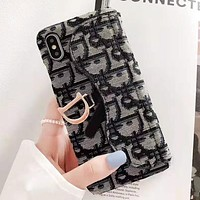 Dior New fashion more letter canvas card phone case protective case