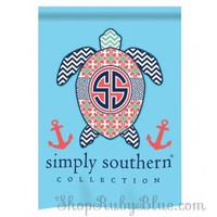Simply Southern -Turtle- Light Blue Garden Flag