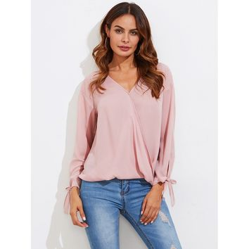 Round And Round We Go Blouse - Pink