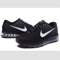 Tagre™ NIKE Trending Fashion Casual Sports Shoes AirMax section Black white hook
