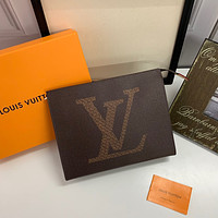 LV Louis Vuitton MEN'S MONOGRAM CANVAS Pochette Voyage HAND BAG