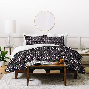 Bel Lefosse Design Lines And Diamonds Duvet Cover