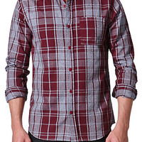 On The Byas Pete Marled Plaid Long Sleeve Woven Shirt at PacSun.com