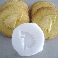 HOUSE STARK inspired COOKIE Stamp recipe and instructions - make your own Game of Thrones inspired Cookies