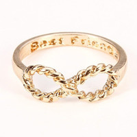 Punk Best Friend Twisted 8 Shaped Ring