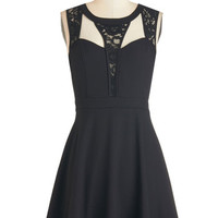ModCloth LBD Short Length Sleeveless A-line Snazzy and You Know It Dress