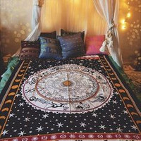 Indian Astrological Zodiac Tapestry Wall Hanging