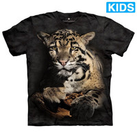 CLOUDED LEOPARD Kids T-Shirt Spotted Big Cat Zoo Animal Mountain Boy Girl NEW!
