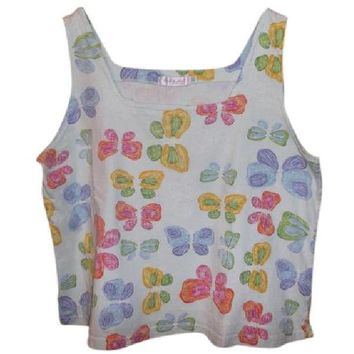 Fresh Produce Butterfly Cropped Top X-Large $14 Pre-Loved Free Shipping!