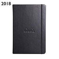 Rhodia 2018 Large Weekly Desk Planner 6 x 9 inches-Black