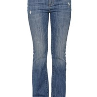 Low Rise Bootcut Jeans - Womens Jeans - Blue