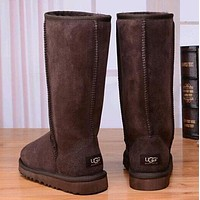 UGG classic wool high boots F Shoes Coffee