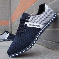 2017 new mens casual shoes mesh shoes for men shoes sport Breathable fashion summer Flats outdoor classic male shoes