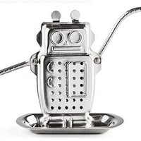 Kikkerland Robot Tea Infuser and Drip Tray