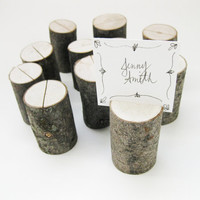 Branch Place Card Holders in maple for your wedding table setting rustic country nature