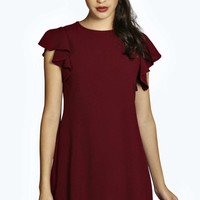 Sophie Frill Sleeve Shift Dress