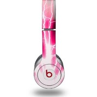 Lightning Pink Decal Style Skin (fits genuine Beats Solo HD Headphones - HEADPHONES NOT INCLUDED)
