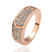 Twin River Rose Gold Plated Ring