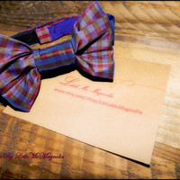 "Baby Boy Bow Tie, ""Rad In Plaid"", Children's Accessories For Boys and Little Boys , Photo Prop"