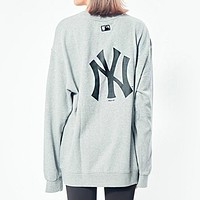 NY MLB Fashion Women Men Print Round Collar Sweater Sweatshirt Top