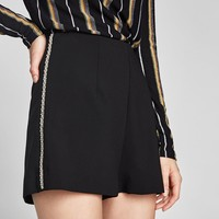 BERMUDA SHORTS WITH BEJEWELLED SIDE STRIPES