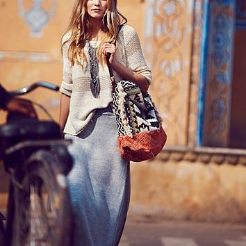 district Womens Sunkissed Knit Maxi