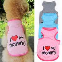 Pet Dog Cat Cotton Vest Clothes T Shirt Coat Puppy Costume Apparel Hot sale [7688956678]