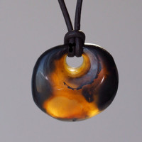 Zen Yoga Necklace with Carnelian Agate Found on Oregon Beach for Men or Women