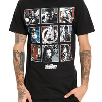 Marvel Avengers: Age Of Ultron Character Squares T-Shirt