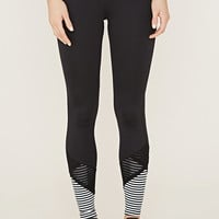 Active Mesh Stripe-Hem Leggings | Forever 21 - 2000185870