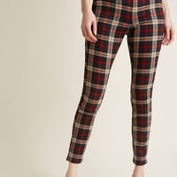 Slow and Edgy Wins the Race Pants in Red Plaid