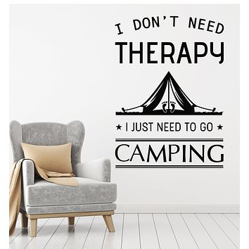 Vinyl Wall Decal Never Stop Exploring Camping Camp Travel Nature Stickers g734