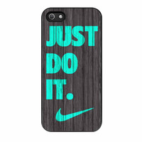 Nike Just Do It Wood Colored Darkwood Wooden Fdl iPhone 5s Case