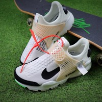 Sale OFF White x Nike La Nike Sock Dart OW White Black Sport Running Shoes Sneaker-1