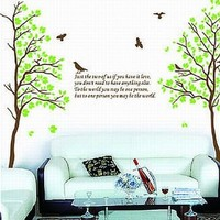SEGG Two Trees or Combine for 1 Large Tree Birds Quote Wall Sticker Decal for Kids Room Living Room:Amazon:Baby