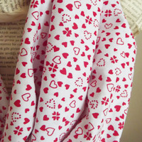 Love Scarf Soft Cotton Infinity Scarf Women Fashion Accessories Hearts Scarf Valentines Day Gift Ideas For Her